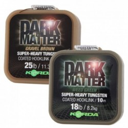 Korda Dark Matter Tungsten Coated Braid Gravel Brown 18lb/8,2kg 10m