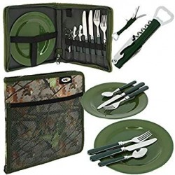 NGT Camo 600 Deluxe Carp Fishing Camping Picnic Day Cutlery Set 2