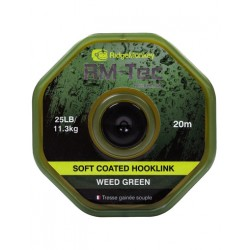 RidgeMonkey RM-Tec Soft Coated Hooklink Weed Green 35lb/15,9kg 20m