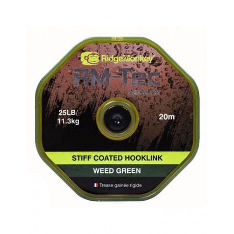 RidgeMonkey RM-Tec Stiff Coated Hooklink organic brown 35lb/15,9kg 20m