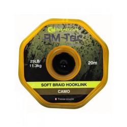 RidgeMonkey RM-Tec Soft Braid Hooklink Organic Brown 25lb/11,3kg 20m