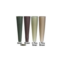 Gardner conos para clip t rubbers C-THRU green) 12uds